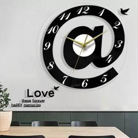 VOSARREA Jam Dinding Bulat Quartz Creative Design Modern 30CM - E4399 - Black - 3