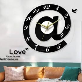 VOSARREA Jam Dinding Bulat Quartz Creative Design Modern 30CM - E4399 - Black - 4