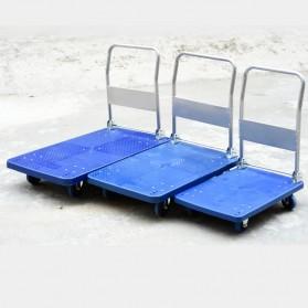 WPRO Trolley Barang Lipat Folding Cart Silent Wheel 87x58CM 350KG - FPT-300 - Blue