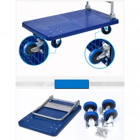 WPRO Trolley Barang Lipat Folding Cart Silent Wheel 87x58CM 350KG - FPT-300 - Blue - 4