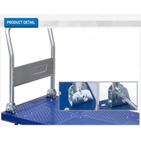 WPRO Trolley Barang Lipat Folding Cart Silent Wheel 70x48CM 150KG - FPT-300 - Blue - 3