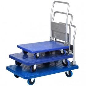 WPRO Trolley Barang Lipat Folding Cart Silent Wheel 70x48CM 150KG - FPT-300 - Blue - 8