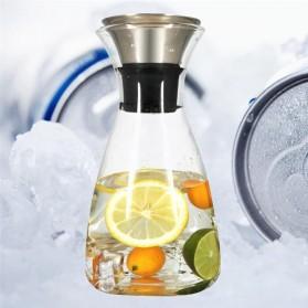 HAIMAITONG Botol Air Minum Kaca Tea Pot Pitcher 1500ML - H202 - Transparent