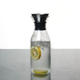 WEIMEI Botol Air Minum Kaca Tea Pot Pitcher 1000ML - H202 - Transparent
