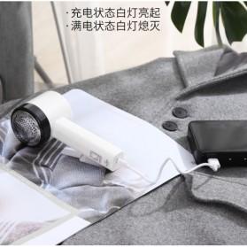 ELEPT Lint Remover Penghilang Bulu Serat Kain Rechargeable - MQ-955 - White/Black - 4