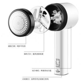 ELEPT Lint Remover Penghilang Bulu Serat Kain Rechargeable - MQ-955 - White/Black - 7