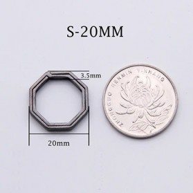 Honest Gantungan Kunci Buckle Key Rings Holder Titanium 20mm - 88886 - Silver