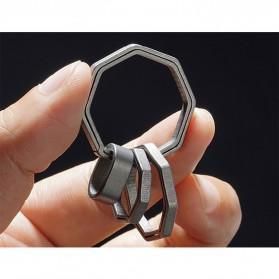 Honest Gantungan Kunci Buckle Key Rings Holder Titanium 20mm - 88886 - Silver - 2