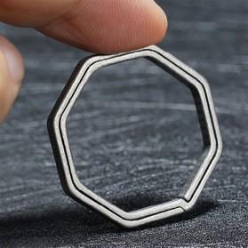 Honest Gantungan Kunci Buckle Key Rings Holder Titanium 20mm - 88886 - Silver - 4