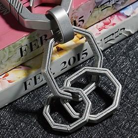 Honest Gantungan Kunci Buckle Key Rings Holder Titanium 20mm - 88886 - Silver - 5