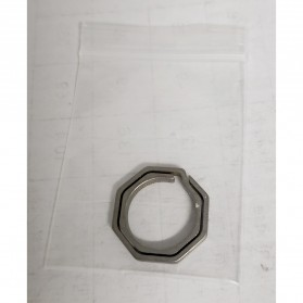 Honest Gantungan Kunci Buckle Key Rings Holder Titanium 20mm - 88886 - Silver - 6