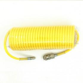 RISEVERTOOLS Selang Air Compressor Telescopic Fleksibel Spring Hose 7.5 Meter - TX010 - Yellow