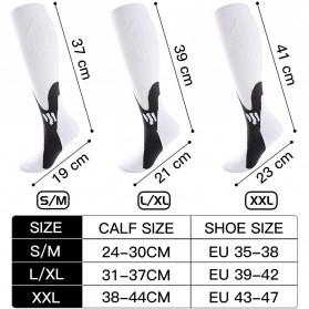 Zingso Kaos Kaki Olahraga Sport Compression Socks Size L-XL - T73002 - Black - 6