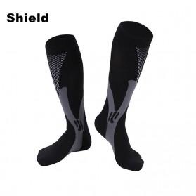 Zingso Kaos Kaki Olahraga Sport Compression Socks Size L-XL - T73002 - Black