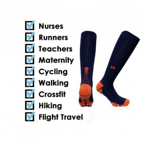Zingso Kaos Kaki Olahraga Sport Compression Socks Size L-XL - T73002 - Black - 4