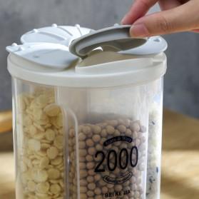 SSGP Toples Wadah Penyimpanan Beras Sereal Oats Storage Jar 4 Slot 2500ml - XYD-A082 - Transparent - 4