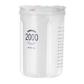 SSGP Toples Wadah Penyimpanan Beras Sereal Oats Storage Jar 4 Slot 2000ml - XYD-A082 - Transparent