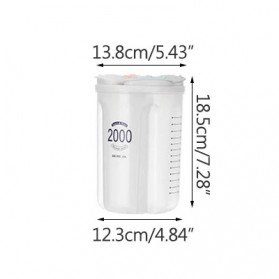 SSGP Toples Wadah Penyimpanan Beras Sereal Oats Storage Jar 4 Slot 2000ml - XYD-A082 - Transparent - 10