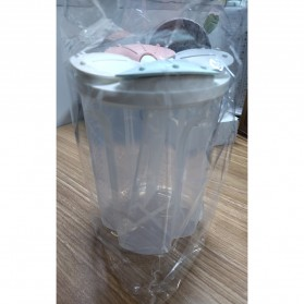SSGP Toples Wadah Penyimpanan Beras Sereal Oats Storage Jar 4 Slot 2000ml - XYD-A082 - Transparent - 11