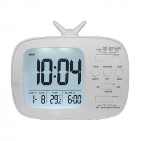 LUMINOVA Jam Digital LED Alarm Clock Temperature - GH180 - White