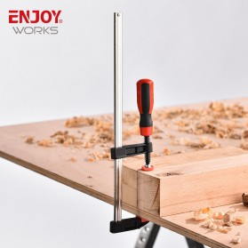 NJOYWORKS Penjepit Kayu F Clamp Handle-C Woodworking Clamp Carpentry Gadgets 250mm - ECF04050 - 8