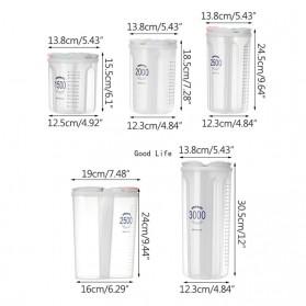 SSGP Toples Wadah Penyimpanan Beras Sereal Oats Storage Jar 4 Slot 3000ml - XYD-A085 - Transparent - 11