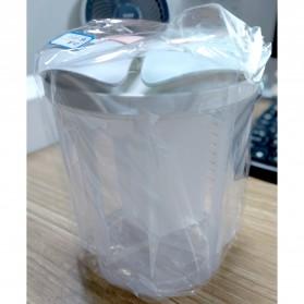 SSGP Toples Wadah Penyimpanan Beras Sereal Oats Storage Jar 3 Slot 1500ml - XYD-A085 - Transparent - 12