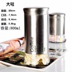 ARTISHARE Toples Wadah Penyimpanan Makanan Bumbu Food Spices Storage Container 800ml - 0159 - Silver