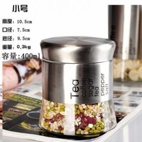 ARTISHARE Toples Wadah Penyimpanan Makanan Bumbu Food Spices Storage Container 400ml - 0159 - Silver