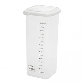 WBBOOMING Toples Wadah Penyimpanan Makanan Food Storage Container 1800ml - W1804 - White