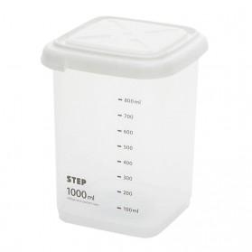 WBBOOMING Toples Wadah Penyimpanan Makanan Food Storage Container 1000ml - W1804 - White