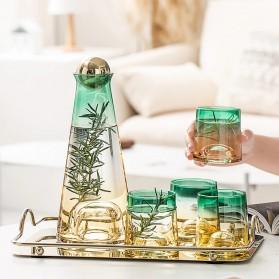 SSGP Cangkir Teko Kaca Set 4 Cups 1 Botol Pitcher Luxury Design - SS2785 - Multi-Color