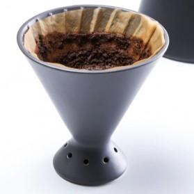 Woodpecker Filter Cup Penyaring Kopi Tembikar Coffee Dripper V60 - WV2 - Black