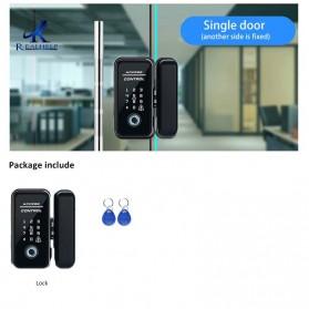 HAIMAITONG Gagang Pintu Elektrik Intelligent Biometric Fingerprint Single Door - MB12-2 - Black