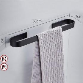 Sunydeal Rak Gantungan Handuk Kamar Mandi Bathroom Towel Holder Hook 60 CM - E1912 - Black - 6