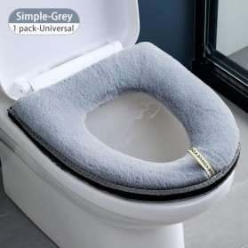 SPG Cover Toilet Warm Seat Washable - SP1 - Gray - 1