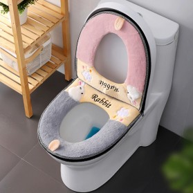 SPG Cover Toilet Warm Seat Washable - SP1 - Gray/Yellow - 2