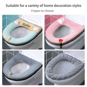 SPG Cover Toilet Warm Seat Washable - SP1 - Gray/Yellow - 7