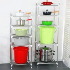 Aiboduo Rak Tingkat Dapur Kitchen Storage Rack 4 Layer - 50802 - Silver