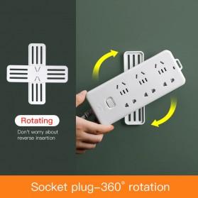 TCMAKE Rak Gantungan Socket Fixer Wall Hanger Organizer Adhesive Rotating - TC23 - White