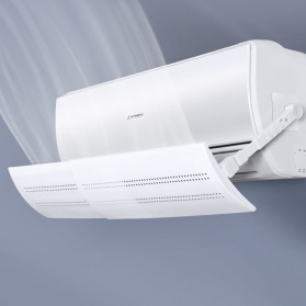 SAFEBET Cover Angin AC Adjustable Air Conditioner Windshield Deflector 56 x 18 cm - GB005 - White