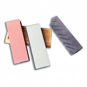 MYVIT Batu Pengasah Pisau Whetstone Knife Sharpener 3 PCS 400/1000 3000/8000 - Wkss-06