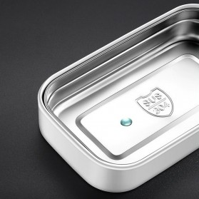 EUJJ Kotak Makan Bento Lunch Box Stainless Steel 3 Compartments - J274 - White - 7