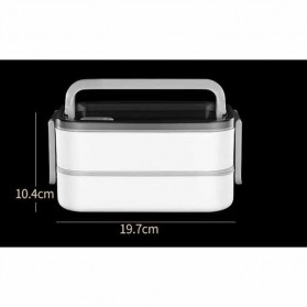 EUJJ Kotak Makan Bento Lunch Box Stainless Steel 3 Compartments - J274 - White - 9