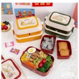 Debi Rabbit Kotak Makan 2 Layer Healthy Bento Lunch Box 850ml - DR5029 - Deep Green - 4