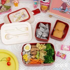 Debi Rabbit Kotak Makan 2 Layer Healthy Bento Lunch Box 850ml - DR5029 - Deep Green - 7