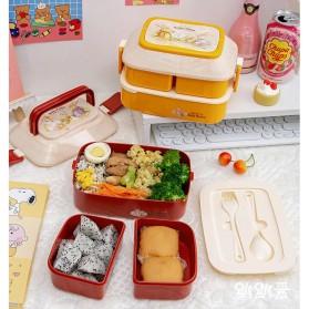 Debi Rabbit Kotak Makan 2 Layer Healthy Bento Lunch Box 850ml - DR5029 - Deep Green - 8