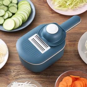 GLANYOMI Parutan Serbaguna Penampung Vegetable Slicer with Draining Bracket - AA074 - Dark Blue