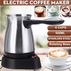 SOKANY Teko Pemanas Elektrik Kopi Espresso Turki 800W 500ml - SK-214 - Silver