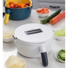 BEEMSK Set Parutan Serbaguna Mangkok Penampung Vegetable Slicer - PJ500 - Gray